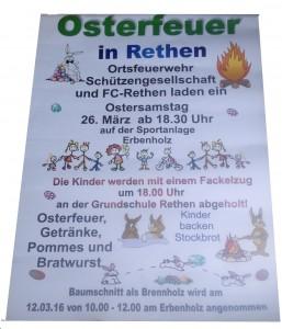 Flyer zum Osterfeuer 2016